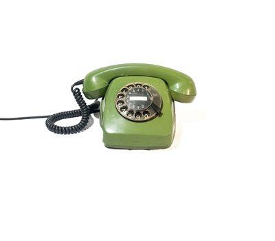 Телефон дисковый (зеленый) - аренда, прокат, фото 1
